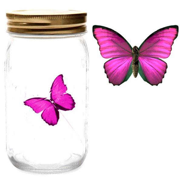 Бабочка в банке (butterfly in a jar) на батарейках, ночник бабочка, бабочка ночник, детский ночник-проектор