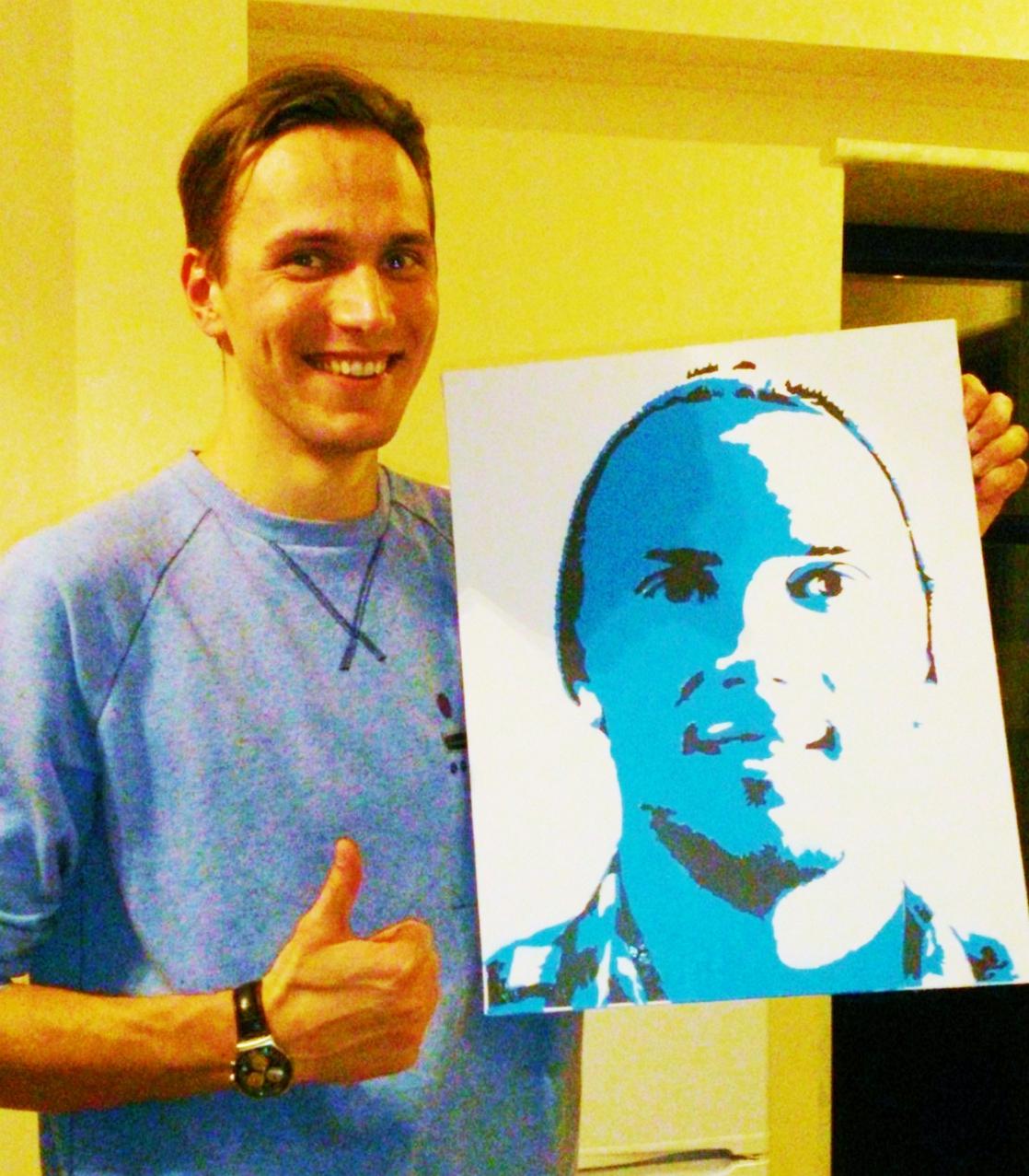 Портреты с фото своими руками