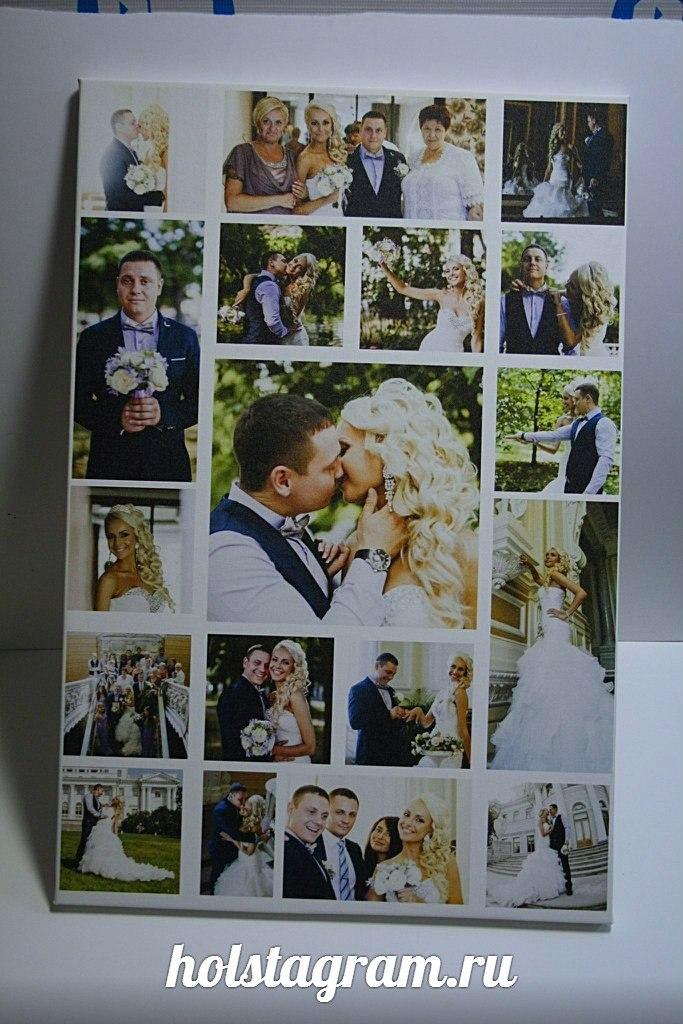 Коллаж из в подарок на свадьбу