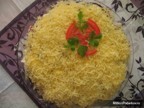 рецепт салата из обжаренных баклажан