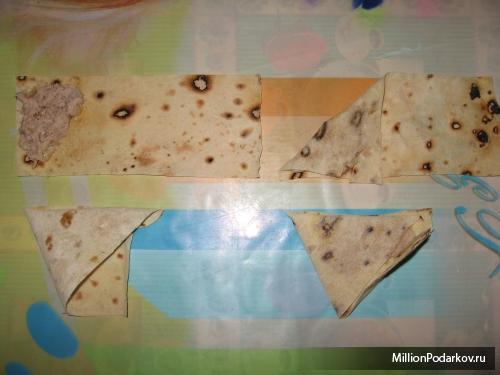 Как сделать треугольник из лаваша 197
