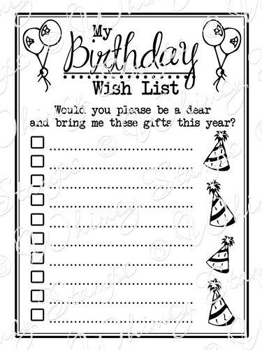 Виш лист подарков на день рождения пример 5