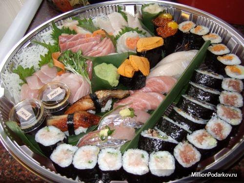 Суши с кальмаром Рецепты блюд