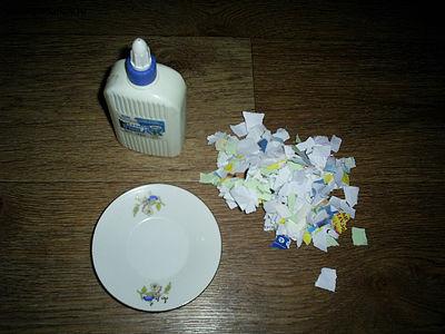 Тарелка из бумаги и клея своими руками 84
