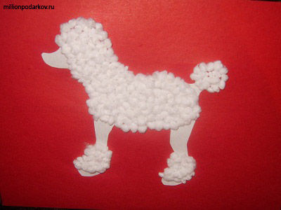 Собачка из ниток и картона своими руками