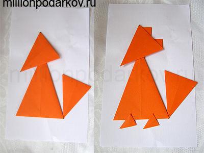 Как сделать лисичку оригами фото 402