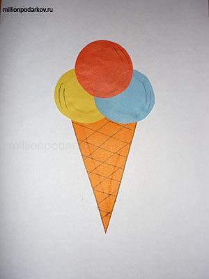 Поделки с детьми мороженое 74
