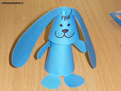 Поделки зайцев из бумаги для