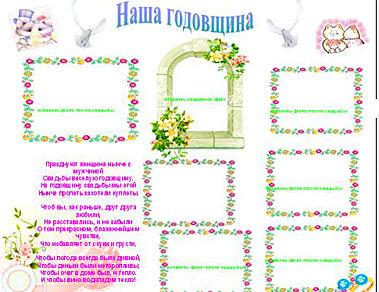 Плакат на годовщину свадьбу своими руками