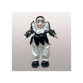 Клоун на черном фоне