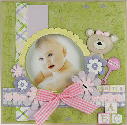 Рамка для фото новорожденному своими руками