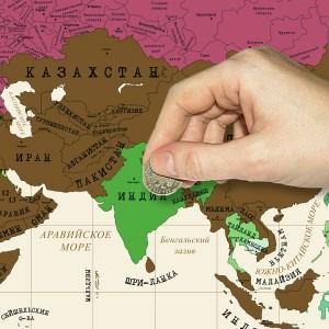 Гаджет Стиральная карта Мира на холодильник Megamind M3195