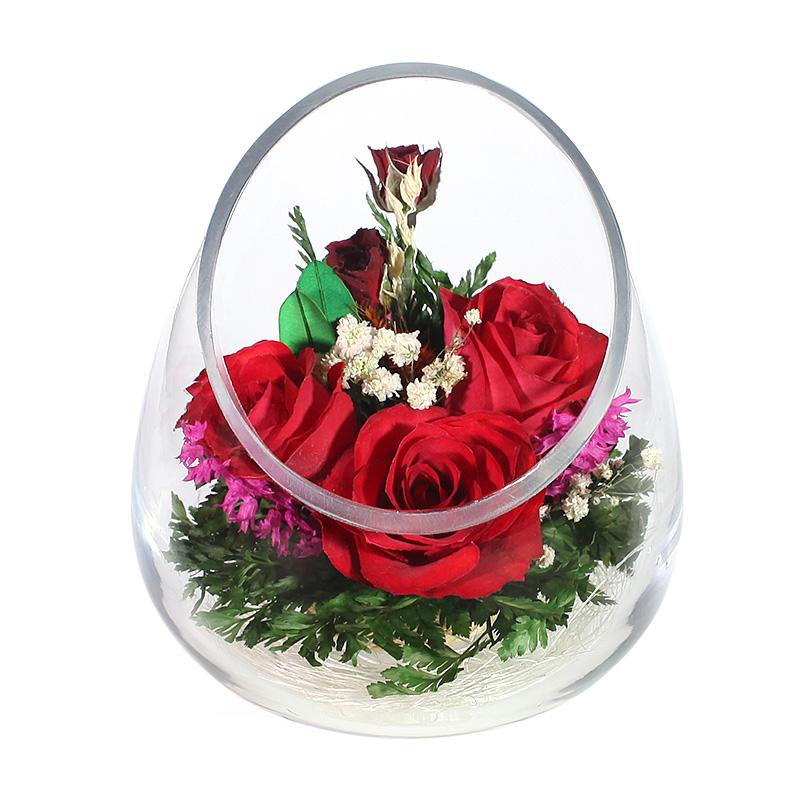 композиция из живых роз своими руками