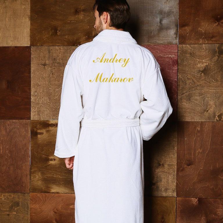 Халат мужской махровый с вышивкой на заказ 24
