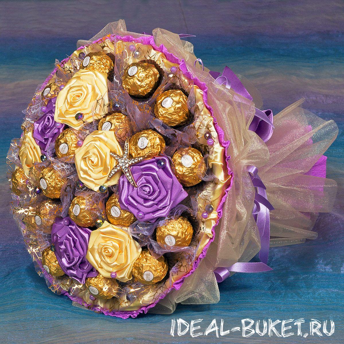 Красивейший букет из конфет своими руками