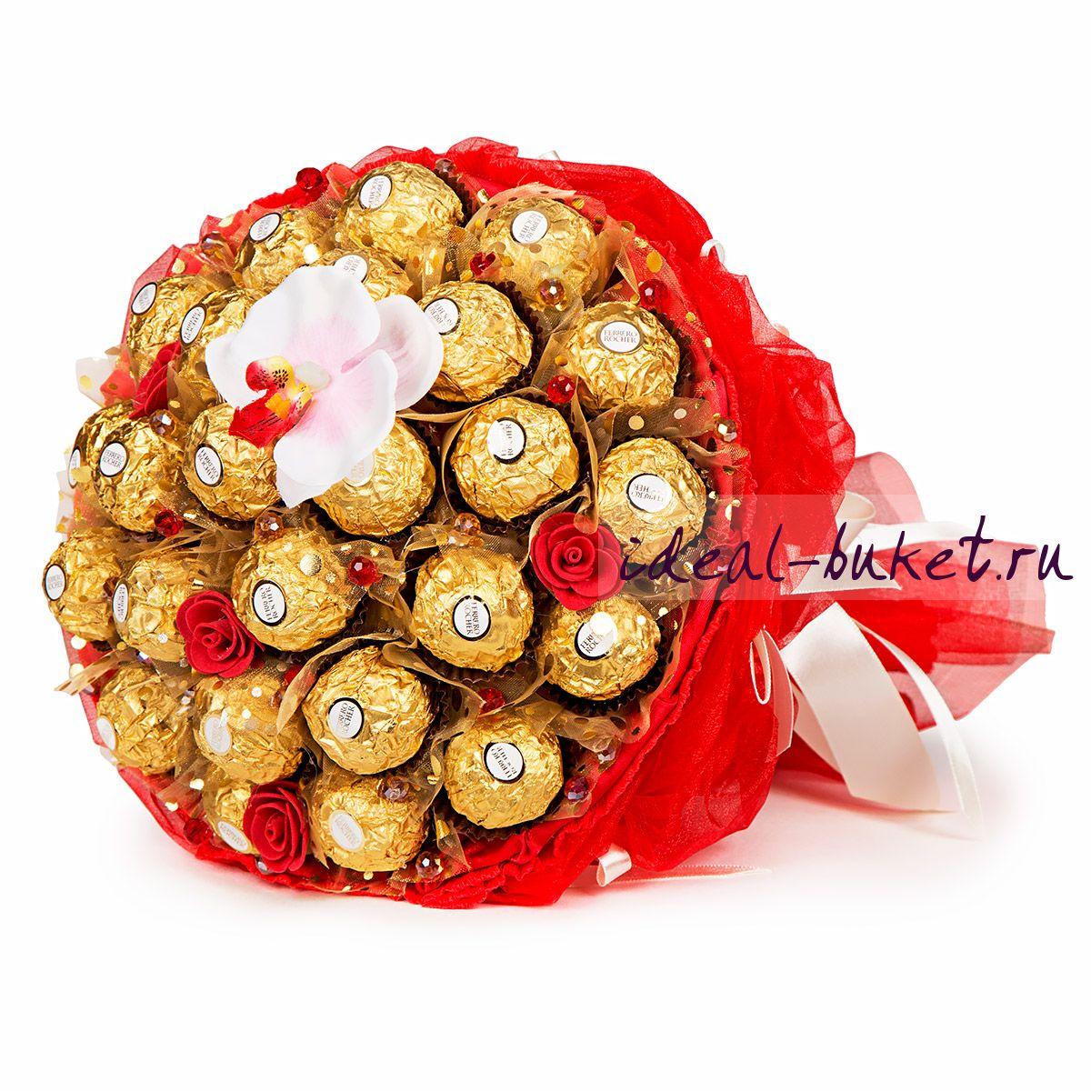 Букеты из конфет как подарок 290