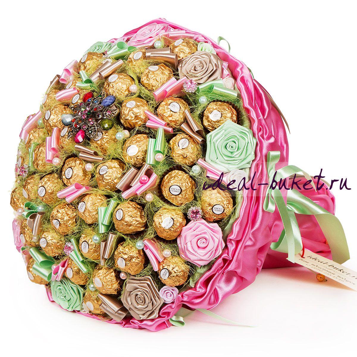 Букеты из конфет как подарок 16