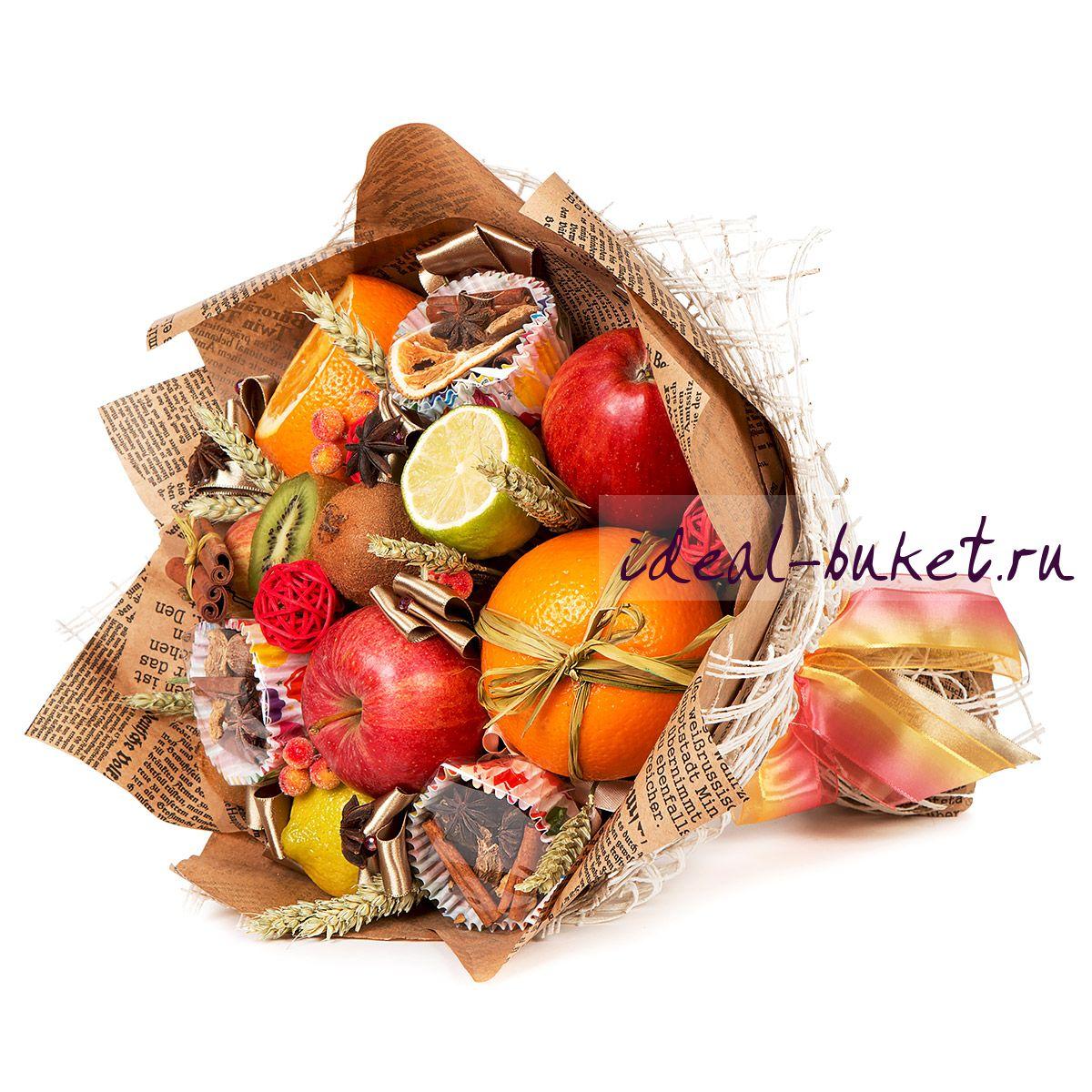 Подарки из конфет и фруктов 55