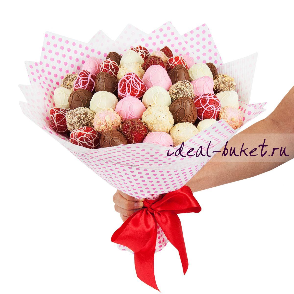 Подарки из конфет и фруктов 76
