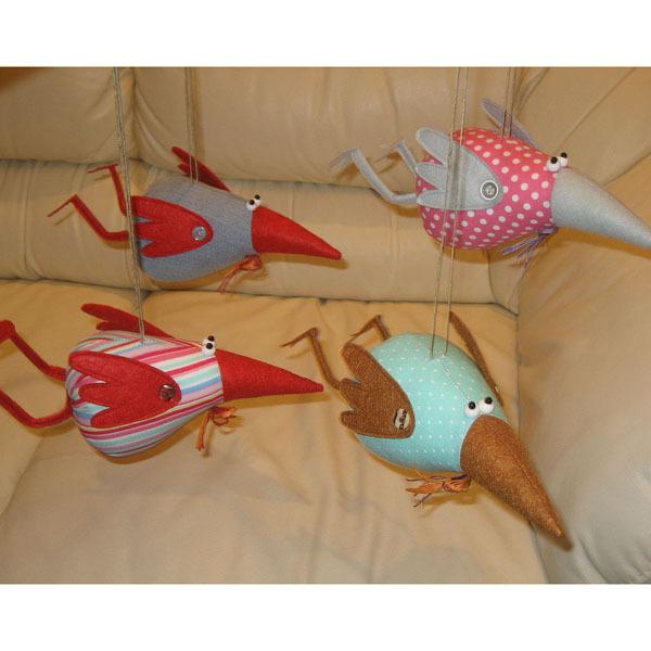 Поделки птиц из ткани своими руками