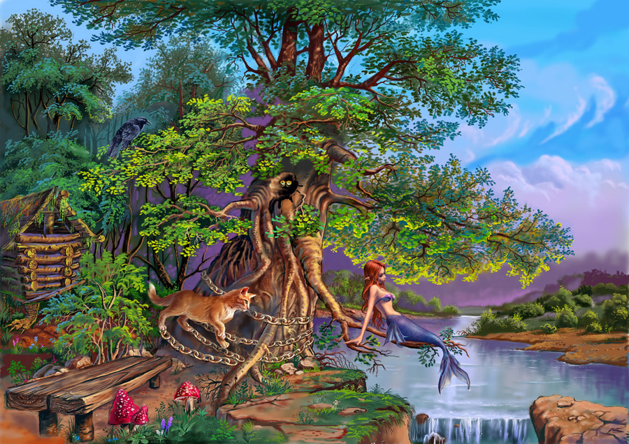 1 у лукоморья дуб зеленый ас пушкин