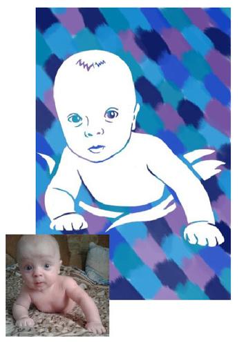 Портрет ребенка своими руками