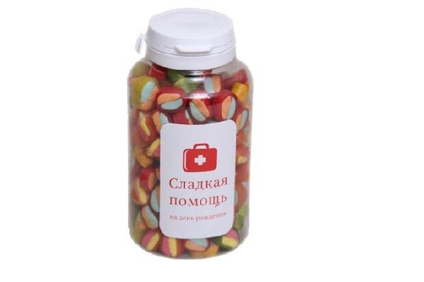 Банка с конфетами сладкая помощь
