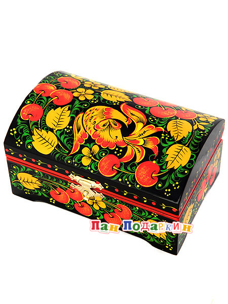 Шкатулки хохломской росписи