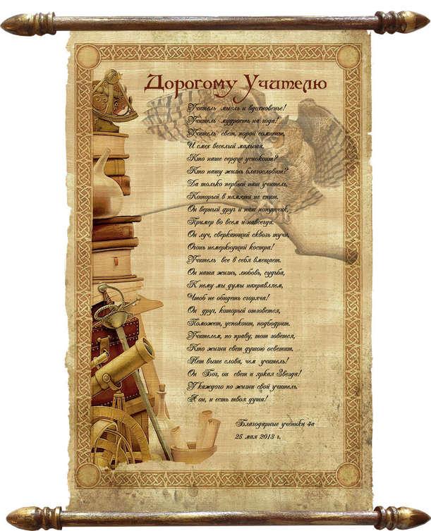 Папирус поздравления на день рождения