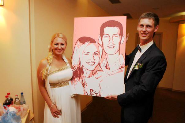 Картина подарок на свадьбу 79