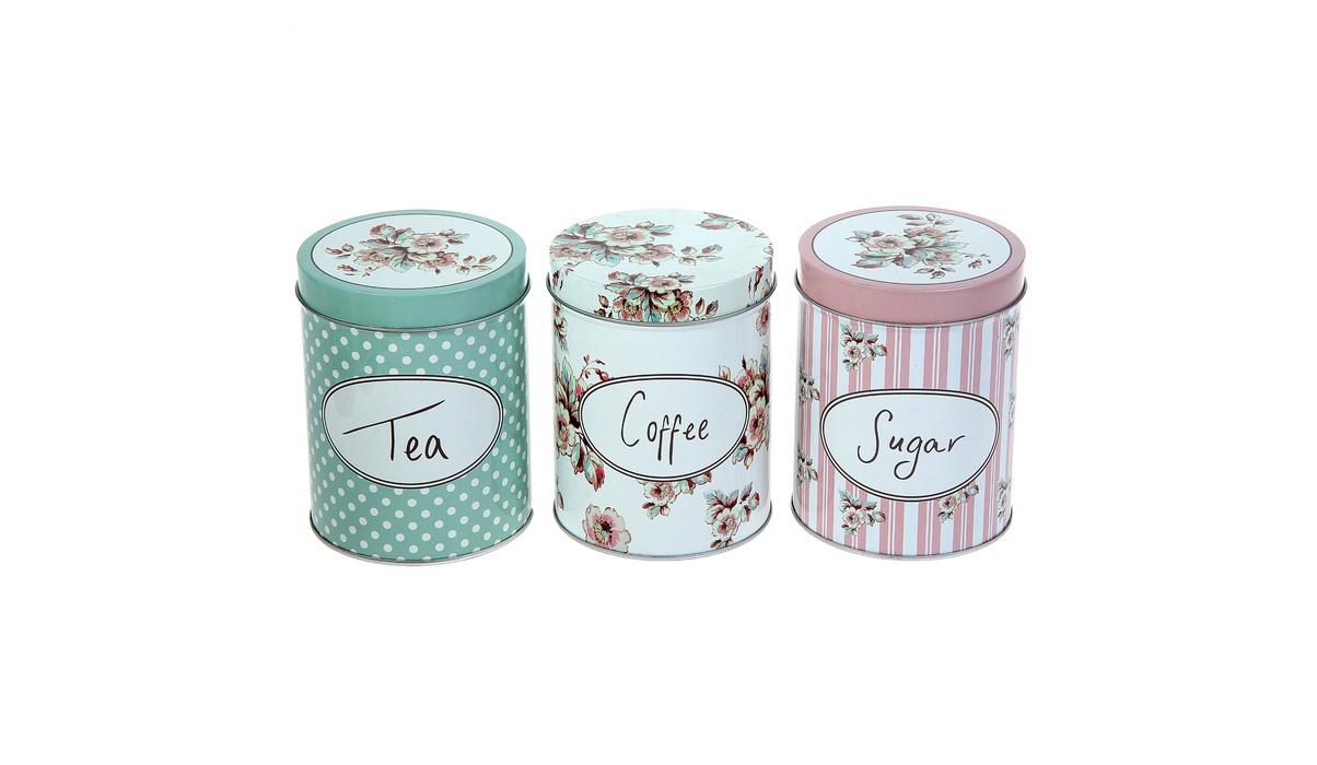 Банки чай кофе сахар
