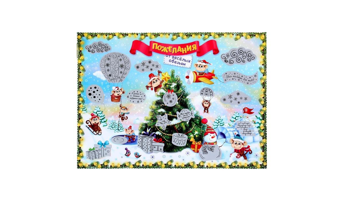 Плакат с пожеланиями на новый год своими