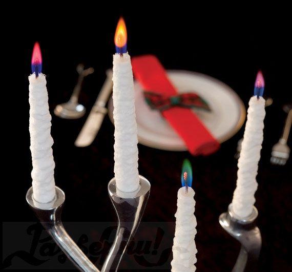 Как сделать свечи с цветным пламенем