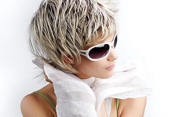 Черно белое блондинки с короткой стрижкой