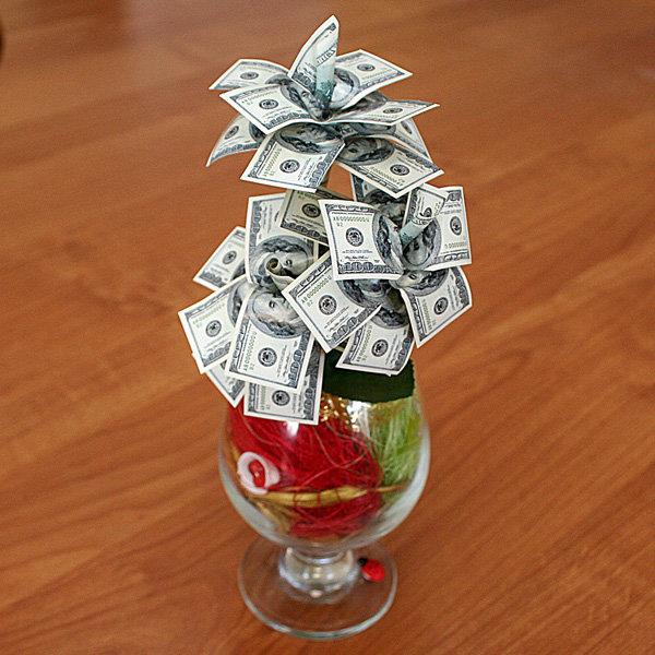 Креативные подарки для мужчин из денег