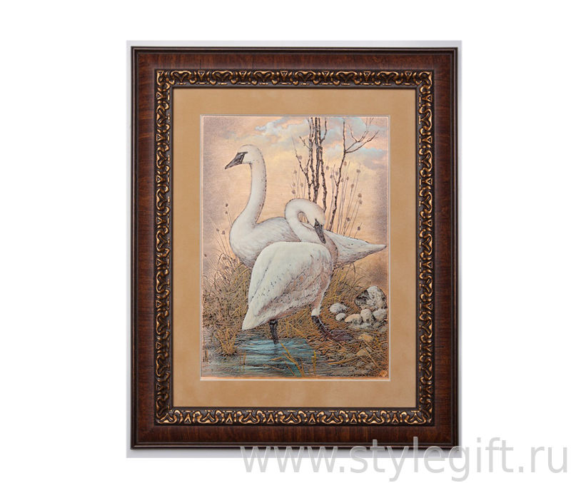 К чему подарить картину с лебедями