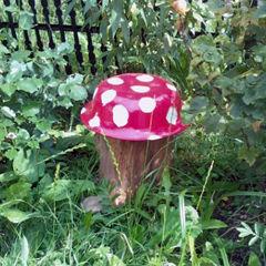 Мухомор своими руками в саду