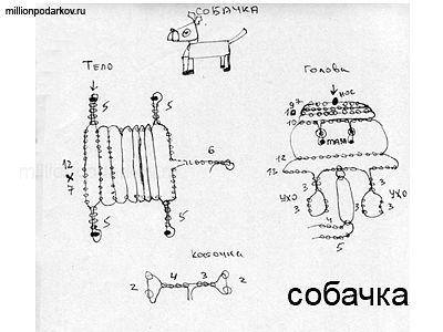 Поделки из бисера схемы «