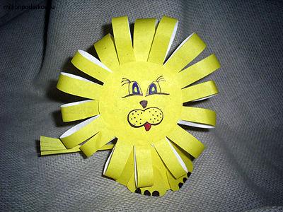 Поделка из бумаги лев своими руками для детей 10 лет 96