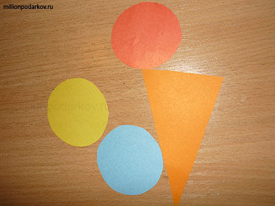 Поделка мороженое из цветной бумаги 91