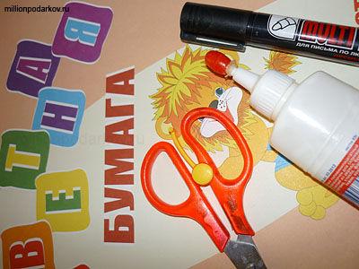 Как сделать из бумаги поделку без ножниц