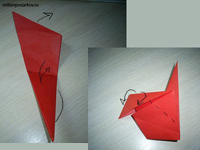 оригами схемы «Петух»: