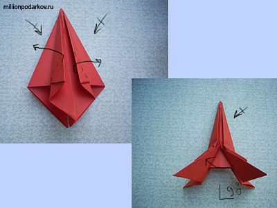бумаги оригами «Ракета»: