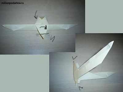 из бумаги-оригами «Чайка