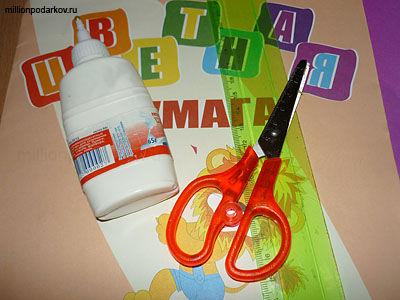 Поделки из клея бумаги картона и ножницы