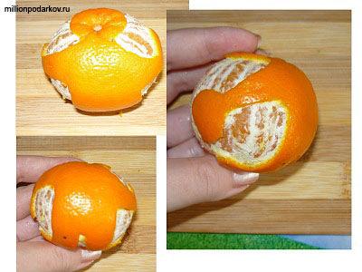 Кожура мандарина поделки