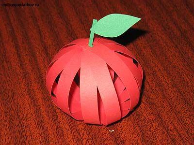 Поделки яблоко из бумаги своими руками 57