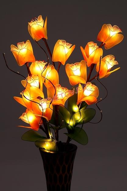 Цветы светильники ночники купить где можно купить синее розы