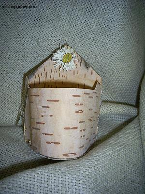 Поделка из природного материала «Подставка для мелочей из ...
