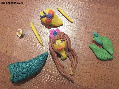 Картинки русалок из пластилина
